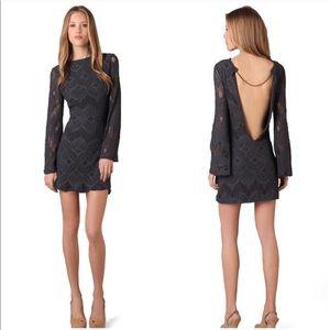 Nightcap Priscilla Backless Long Sleeve Mini Dress
